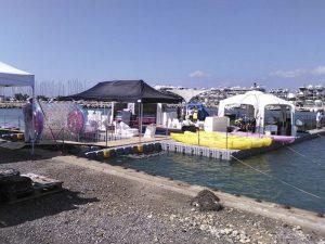 pontones flotantes
